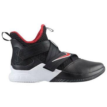(取寄)ナイキ メンズ バッシュ レブロン ソルジャー 12 レブロン ジェームズ バスケットシューズ Nike Men's LeBron Soldier XII Lebron James Black University Red White