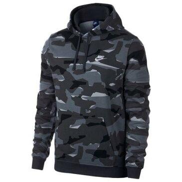 (取寄)ナイキ メンズ パーカー クラブ カモ プルオーバー フーディ Nike Men's Club Camo Pullover Hoodie Cool Grey Black