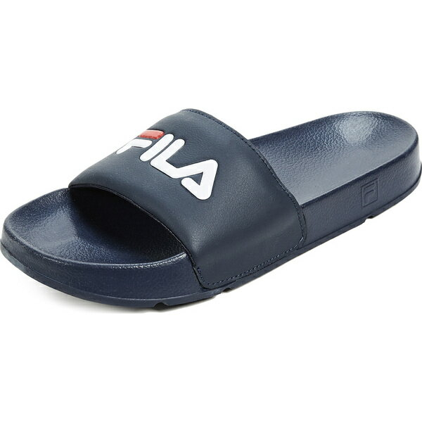 (取寄)FILA Drifter Slide Sandals フィラ ドリフター スライド サンダル Navy 送料無料画像