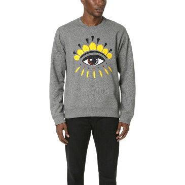 (取寄)KENZO Eye Crew Sweatshirt ケンゾー アイ クルー スウェットシャツ Anthracite