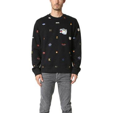 (取寄)KENZO Allover Tiger Sweatshirt ケンゾー オールオーバー タイガー スウェットシャツ Black