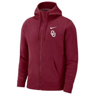 (取寄)ナイキ メンズ パーカー カレッジ チーム クラブ フルジップ フーディ オクラホマ スーナーズ Nike Men's College Team Club Full-Zip Hoodie オクラホマ スーナーズ Team Crimson