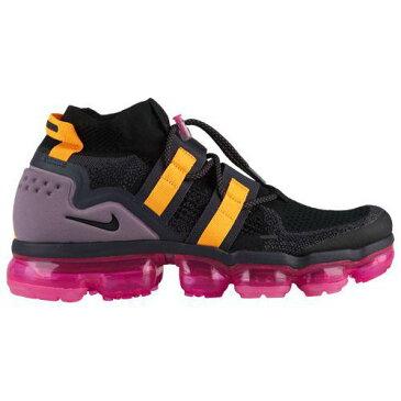 (取寄)ナイキ メンズ バッシュ エアヴェイパーマックス フライニット ユーテリティ バスケットシューズ Nike Men's Air Vapormax Flyknit Utility Black Black Gridiron Pink Blast
