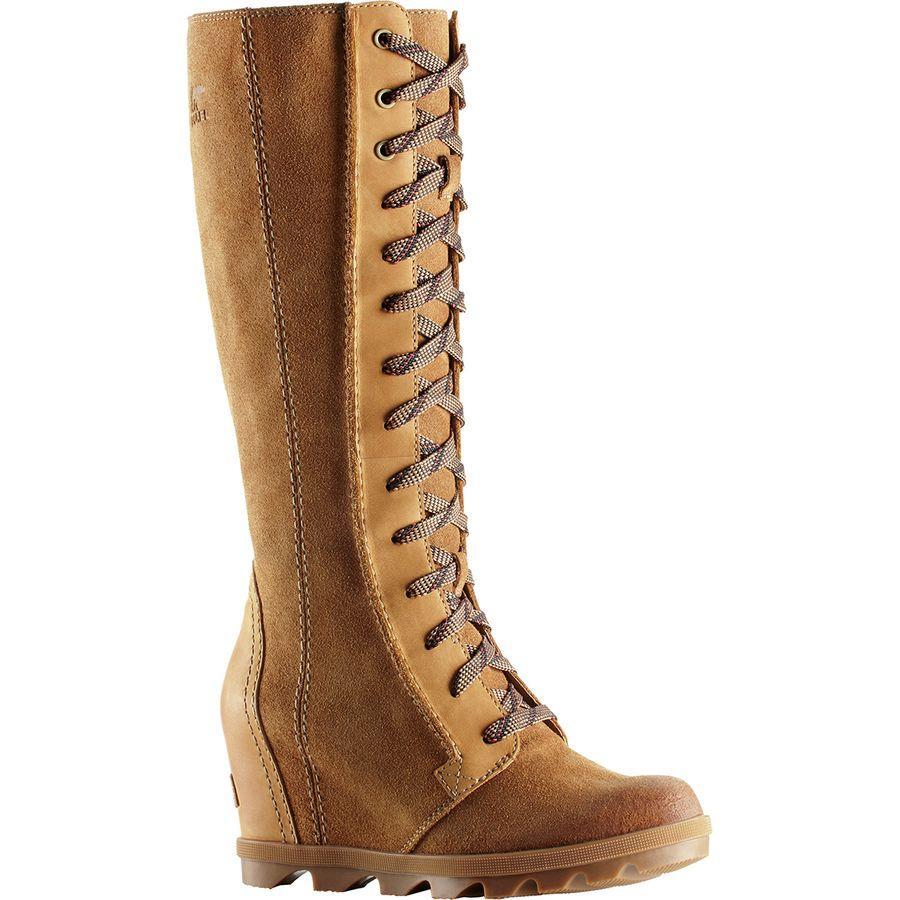 (取寄)ソレル レディース ジョアン オブ アークティック ウェッジ 2 トール ブーツ Sorel Women Joan Of Arctic Wedge II Tall Boot Camel Brown