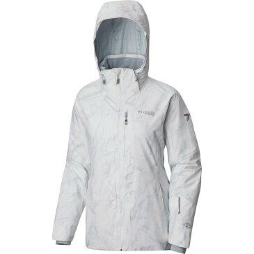 (取寄)コロンビア レディース Titanium スノー ライバル ジャケット Columbia Women Titanium Snow Rival Jacket White Marble Print