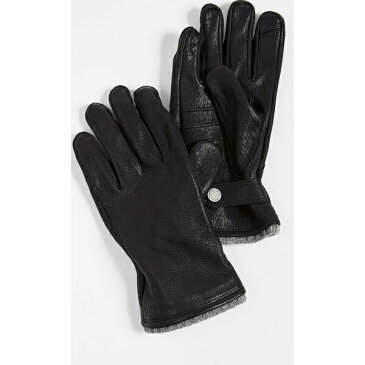 (取寄)ポロ ラルフローレン ディアスキン グローブ ウィズ ニット カフ Polo Ralph Lauren Deerskin Gloves with Knit Cuff Black