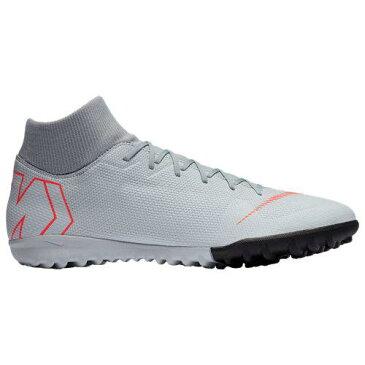 (取寄)ナイキ メンズ マーキュリアル スーパーフライ X 6 アカデミー tr Nike Men's Mercurial SuperflyX 6 Academy TF Wolf Grey Bright Crimson Pure Platinum
