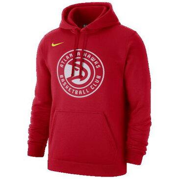 (取寄)ナイキ メンズ パーカー NBA クラブ フリース プルオーバー フーディ アトランタ ホークス Nike Men's NBA Club Fleece Pullover Hoodie アトランタ ホークス University Red