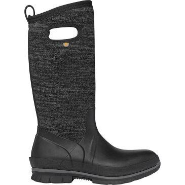 【クーポンで最大2000円OFF】(取寄)ボグス レディース クランドル トール ニット ブーツ Bogs Women Crandall Tall Knit Boot Black Multi
