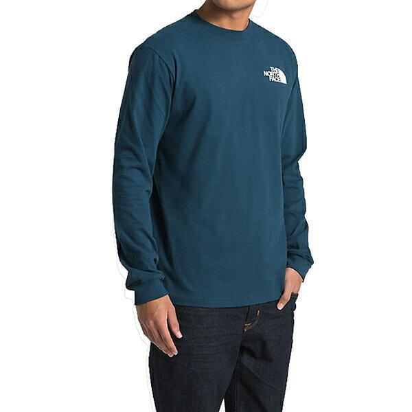 ノースフェイスメンズ長袖TシャツバックプリントレッドボックスTシャツTheNorthFaceMen'sRedBoxT-Shirt