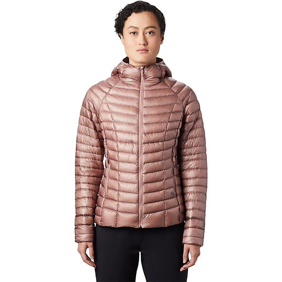 レディースファッション, コート・ジャケット () 2 Mountain Hardwear Women Ghost Whisperer 2 Hooded Down Jacket Smoky Quartz