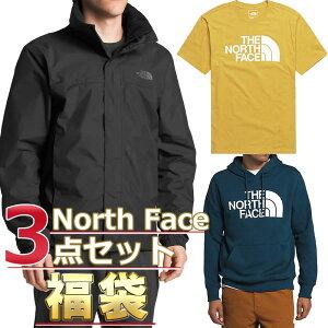 ノースフェイス 福袋 ジャケット Tシャツ パーカー メンズ 3点セット USAモデル THE North Face 送料無料 メンズ ブランド 福袋 お得な半袖Tシャツ、スウェットパーカー、ジャケット3点セット 2020 2021 fall&winter モデル 取寄