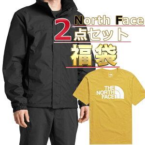 ノースフェイス ジャケット Tシャツ 福袋 メンズ 2点セット USAモデル THE North Face 送料無料 メンズ ブランド 福袋 お得な半袖Tシャツ ジャケットの2点セット 取寄