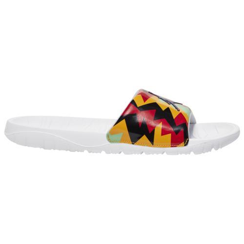 【クーポンで最大2000円OFF】(取寄)ジョーダン メンズ シューズ ブレーク スライド Jordan Men's Shoes Break Slide White Court Purple Neutral Grey Citrus画像