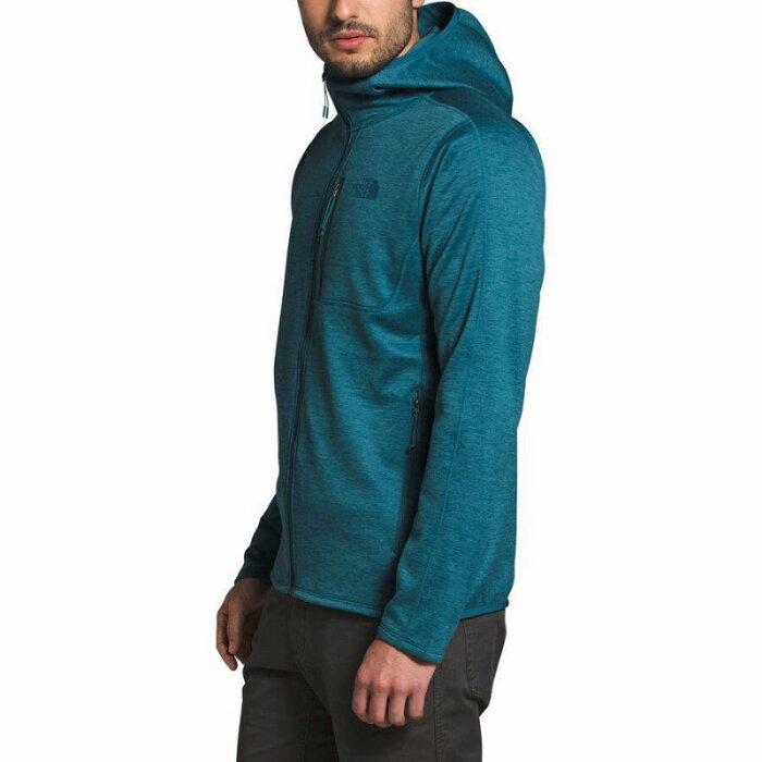 (取寄)ノースフェイス メンズ キャニオンランズ フーデッド フリース ジャケット The North Face Men's Canyonlands Hooded Fleece Jacket Mallard Blue Heather