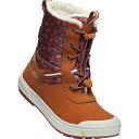 (取寄)キーン ユース ケルサ トール WP ブーツ KEEN Youth Kelsa Tall WP Boot Caramel Cafe / Harbor Grey