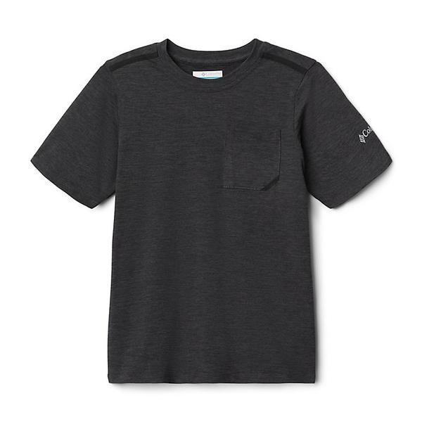 トップス, Tシャツ・カットソー () Columbia Boys Tech Trek SS Tee Black Heather