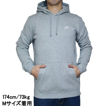 NIKE パーカー ナイキ メンズ パーカー グレー クラブ プルオーバー フーディ Nike Men's NSW Club Fleece Pullover Hoodie Dark Grey Heather Dark Grey Heather White