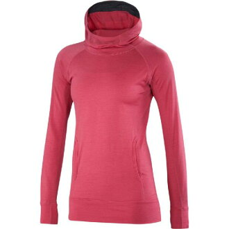 (索取)眼睛貝克女士因迪刮刀誰死亡毛衣Ibex Women Indie Hera Hooded Sweater Winter Cherry