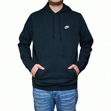 NIKE パーカー 黒 ナイキ メンズ パーカー ブラック クラブ プルオーバー Nike Men's NSW Club Fleece Pullover Hoodie Black Black White