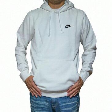 NIKE パーカー 白 ナイキ メンズ ロゴパーカー ホワイト クラブ プルオーバー フーディ Nike Men's NSW Club Fleece Pullover Hoodie White/White/Black