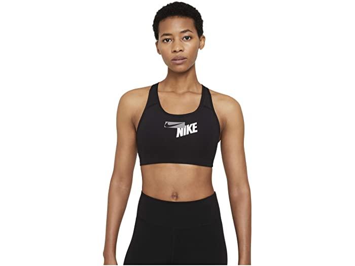 レディースインナー, スポーツブラ () Nike Womens Swoosh Logo Bra Pad BlackBlackParticle Grey