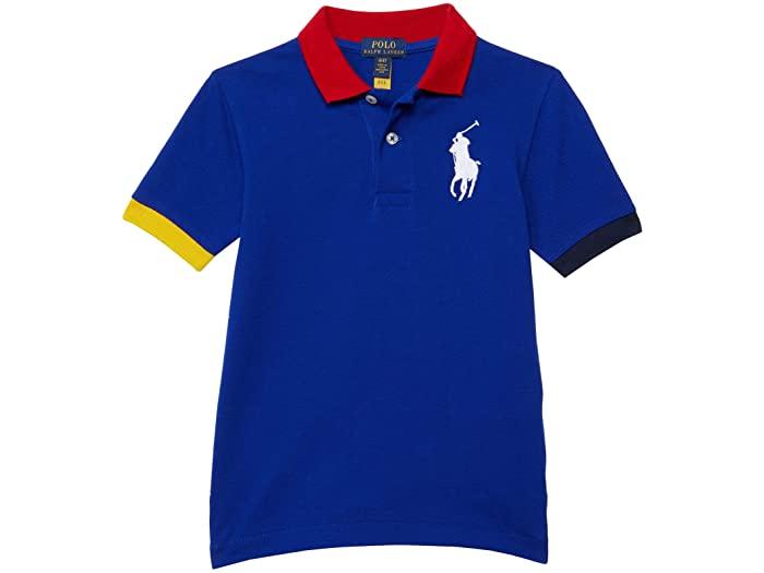 トップス, ポロシャツ () () Polo Ralph Lauren Boys Kids Big Pony Cotton Mesh Polo Shirt (Toddler) Active Royal