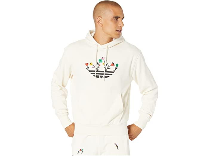 トップス, パーカー () adidas Originals Mens Floral Trefoil Hoodie Non-Dyed
