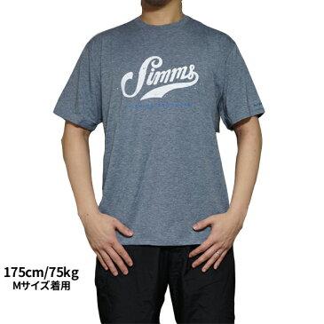 シムス グラフィック テック 半袖Tシャツ SIMMS Graphic Tech T-Shirts UPF 20+ グレー