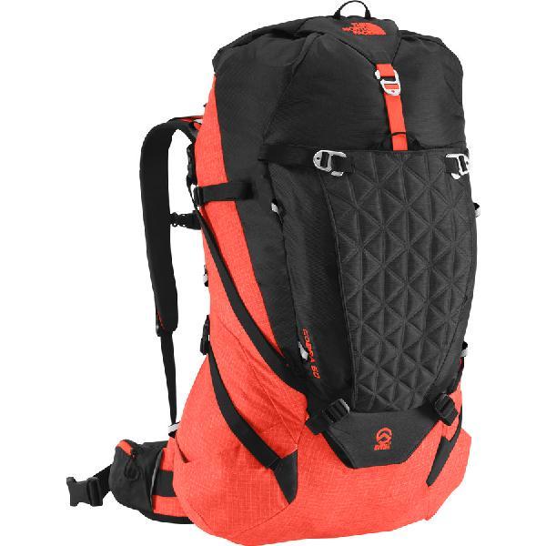 (取寄)ノースフェイス コブラ 60 バックパック The North Face Cobra 60 Backpack Tnf Black/Acrylic Orange Heather:スウィートラグ