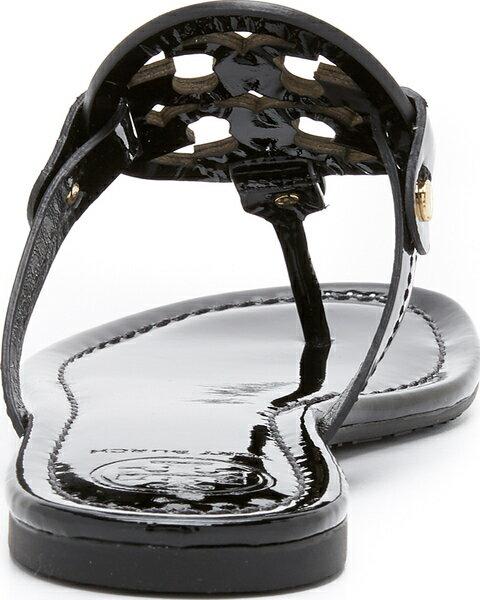 (取寄)Tory Burch Women's Miller Thong Sandals トリーバーチ レディース ミラー トング サンダル Black