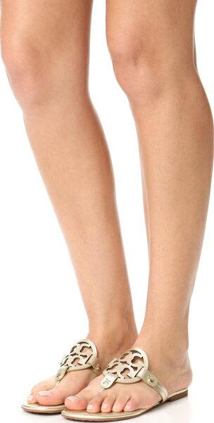 (取寄)Tory Burch Women's Miller Thong Sandals トリーバーチ レディース ミラー トング サンダル Spark Gold