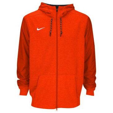 (取寄)Nike ナイキ メンズ パーカー チーム サイドライン フルジップ トラベル フーディ Nike Men's Team Sideline Full-Zip Travel Hoodie Team Orange White