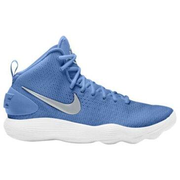(取寄)Nike ナイキ レディース スニーカー バッシュ リアクト ハイパーダンク 2017 ミッド バスケットボール Nike Women's React Hyperdunk 2017 Mid University Blue Metallic Silver White