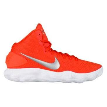 (取寄)Nike ナイキ メンズ バッシュ リアクト ハイパーダンク 2017 ミッド バスケットシューズ スニーカー Nike Men's React Hyperdunk 2017 Mid Team Orange Metallic Silver White