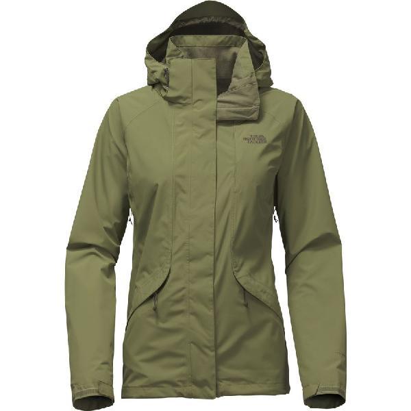 (取寄)ノースフェイス レディース バウンダリ トリクラメイト フーデッド ジャケット The North Face Women Boundary Triclimate Hooded Jacket Burnt Olive Green