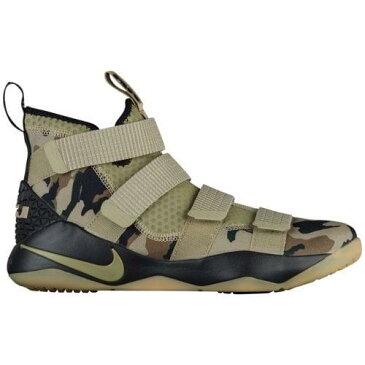 (取寄)ナイキ メンズ スニーカー バッシュ レブロン ソルジャー 11 バスケットシューズ Nike Men's LeBron Soldier 11 Neutral Olive Hazel