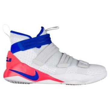 (取寄)ナイキ メンズ スニーカー バッシュ レブロン ソルジャー 11 SFG バスケットシューズ Nike Men's LeBron Soldier 11 SFG White Racer Blue Infrared Pure Platinum