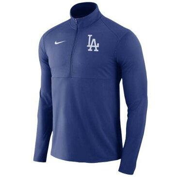 (取寄)ナイキ メンズ MLB トレーニングウェア ハーフジップ ゲーム エレメント 1/2 ジップ トップ ロス エンジェルス ドジャース Nike Men's MLB Game Element 1/2 Zip Top Los Angeles Dodgers Royal