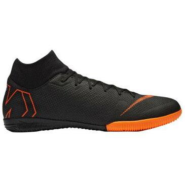 (取寄)ナイキ メンズ スニーカー ランニングシューズ マーキュリアル スーパーフライ X 6 アカデミー ic Nike Men's Mercurial SuperflyX 6 Academy IC Black Total Orange White