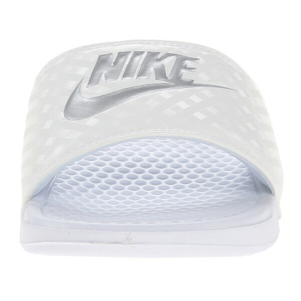 (取寄)NIKE ナイキ サンダル ベナッシ 白 シルバー スライド Nike Women's Benassi JDI Slide White Metallic Silver 【コンビニ受取対応商品】
