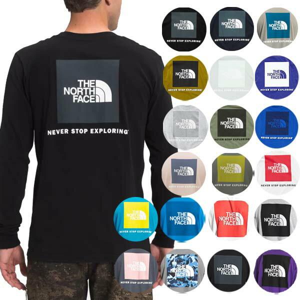 ノースフェイスメンズ長袖TシャツバックプリントレッドボックスTシャツS-XXLおしゃれロゴTheNorthFaceMen'sRe