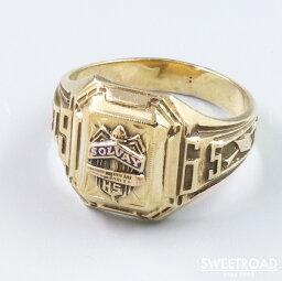 【College Ring/カレッジリング】10金無垢/10KYG/19号/1965年製/SOLVAY HS/ソルベイ高校/BALFOUR/バルフォア社製/w-24251