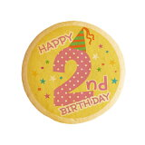 HAPPY 2nd BIRTHDAY 2歳の誕生日をお祝いするメッセージクッキー 誕生日 プチギフト プリントクッキー ショークッキー