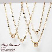 ネックレス ダイヤモンド シンプル ゴールド プチプラ