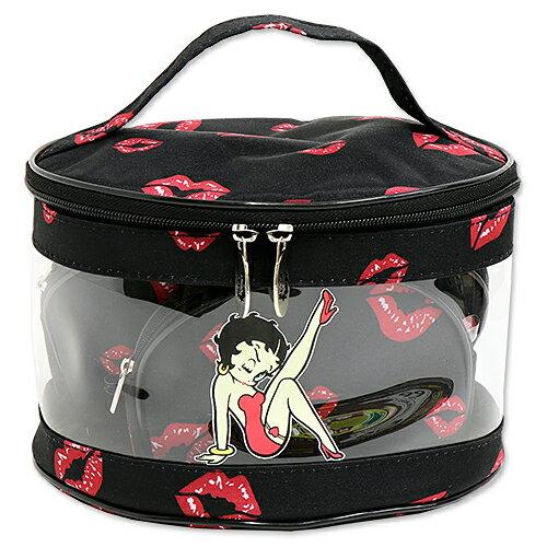 ベティブープ (Betty Boop) コスメティック バッグ シッティング ウィズ リップス BBDNBN301309-3-7B