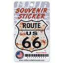 RT 66 (ルート 66) シールド ステッカー RUSTY SHIELD 66-A...