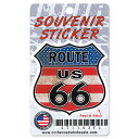 RT 66 (ルート 66) シールド ステッカー FLAG SHIELD 66-AD...