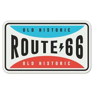 RT 66 (ルート 66) ステッカー ラージ Route 66 Retro Fun Plate 66-SP-ST-1154