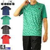 テニスウェア ディアドラ DIADORA メンズ DTP9536 グラフィックトップ 2007 Tシャツ テニス バドミントン トップス ウェア UV 吸汗 速乾 半袖Tシャツゆうパケット対応